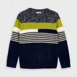 Sweter w paski chłopięcy Mayoral 4328-67 zielony/granat