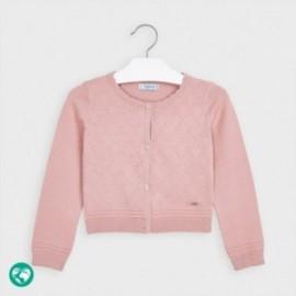 Sweterek trykotowy dziewczęcy Mayoral 4349-81 różowy