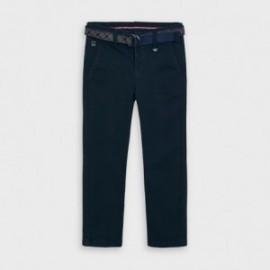 Spodnie eleganckie z paskiem chłopiec Mayoral 4535-21 granatowe