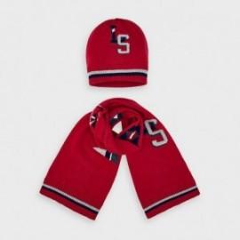 Komplet czapka z szalikiem dla chłopców Mayoral 10893-50 Czerwony