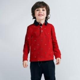 Koszulka polo z nadrukiem chłopięca Mayoral 4131-20 Czerwony