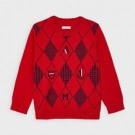 Sweter w romby chłopięcy Mayoral 4325-38 Czerwony