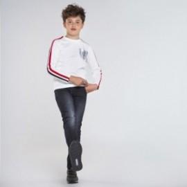 Koszulka z długim rękawem chłopięca Mayoral 7045-82 Kremowy