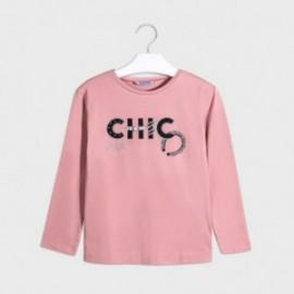 Koszulka z długim rękawem dziewczęca Mayoral 7063-77 Różowy
