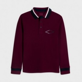 Koszulka polo z nadrukiem chłopięca Mayoral 7123-93 kolor bordowa
