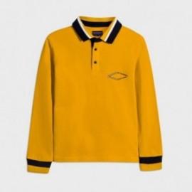 Koszulka polo z nadrukiem chłopięca Mayoral 7123-94 kolor żółty