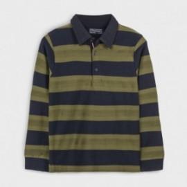 Koszulka polo w paski chłopięca Mayoral 7125-55 Oliwkowa