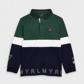 Koszulka polo dla chłopca Mayoral 4129-76 granatowa