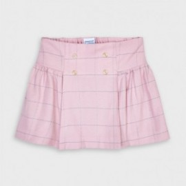 Spódnica w kratkę dla dziewczynek Mayoral 4954-91 różowa