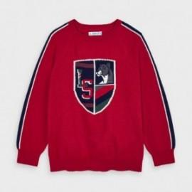 Sweter z haftem chłopięcy Mayoral 4330-66 czerwony