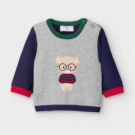 Sweterek z nadrukiem dla chłopców Mayoral 2340-90 szary/granat