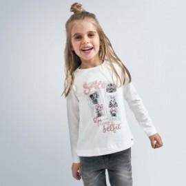 Komplet koszulek dla dziewczynki Mayoral 4066-87 Srebrny