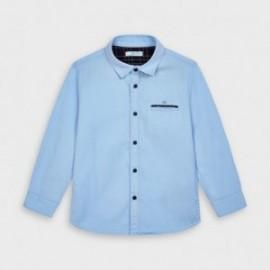Koszula elegancka dla chłopców Mayoral 4145-11 Błękitna