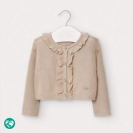 Sweter z falbanką dla dziewczynek Mayoral 2362-53 beżowy