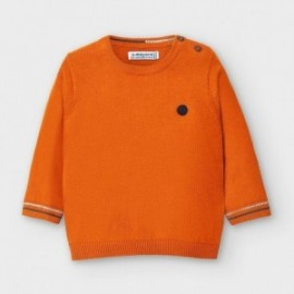 Sweter z lamówką chłopięcy Mayoral 351-16 pomarańczowy