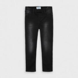 Spodnie jeans dziewczęce Mayoral 577-12 czarne