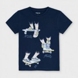 Koszulka z krótkim rękawkiem dla chłopców Mayoral 3043-70 granatowa