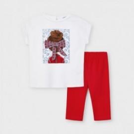 Komplet koszulka i leginsy dziewczęcy Mayoral 3735-58 Czerwony