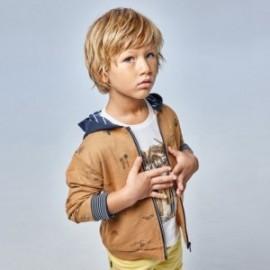 Bluza z nadrukiem chłopięca Mayoral 3409-23 Brązowy