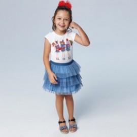 Komplet ze Spódniczką dla dziewczynek Mayoral 3961-23 niebieski