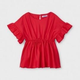 Bluzka z falbanką dla dziewczynek Mayoral 3194-94 czerwona