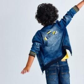 Kurtka jeansowa dla chłopców Mayoral 3407-19 niebieska
