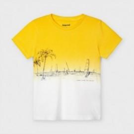 Koszulka z krótkim rękawkiem chłopięca Mayoral 3035-62 żółta
