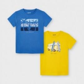 Komplet koszulek z krótkim rękawkiem dla chłopców Mayoral 3033-70 niebieska/żółta