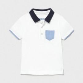 Koszulka polo dla chłopca Mayoral 1103-38 Biały