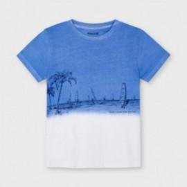 Koszulka z krótkim rękawkiem chłopięca Mayoral 3035-63 niebieska