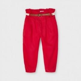 Spodnie luźne z paskiem dziewczęce Mayoral 3552-49 Czerwony