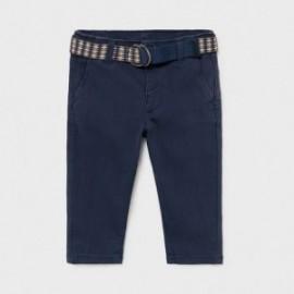 Spodnie z paskiem chłopięce Mayoral 1582-69 Granatowy