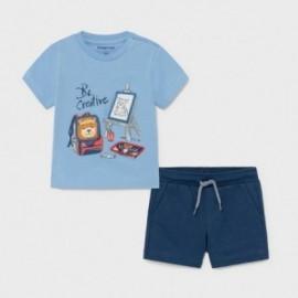 Komplet koszulka i szorty chłopięcy Mayoral 1671-66 Niebieski