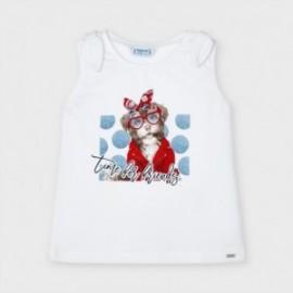 Koszulka na ramiączkach dziewczęca Mayoral 3025-87 Biała