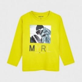 Koszulka z cekinami dla chłopców Mayoral 4052-22 Zielona