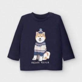 Koszulka bawełniana dla chłopców Mayoral 2050-36 Granatowy