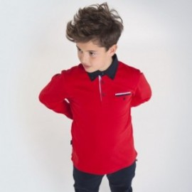 Koszulka polo chłopięca Mayoral 7124-65 Czerwony