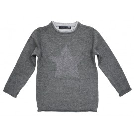 Losan sweter 526-5200AD popiel