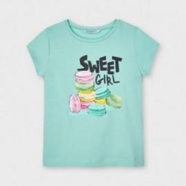Koszulka z krótkim rękawem dziewczęca Mayoral 3020-14 Turkusowy