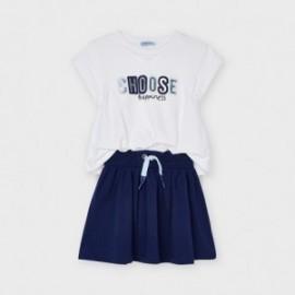 Sukienka sportowa dla dziewczynek Mayoral 3958-92 biała/granat