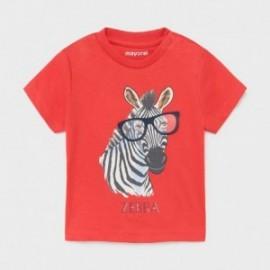 Koszulka z aplikacją chłopięca Mayoral 1001-48 Czerwony