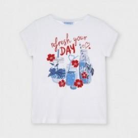 Koszulka z nadrukiem dla dziewczynek Mayoral 3015-71 Biały
