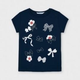 Koszulka z krótkim rękawem dziewczęca Mayoral 3020-11 Granatowy