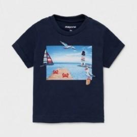 Koszulka z krótkim rękawkiem dla chłopców Mayoral 1009-22 granatowa