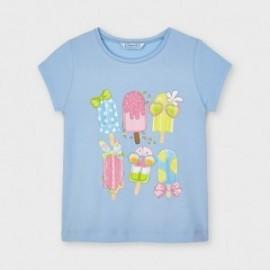 Koszulka z krótkim rękawem dziewczęca Mayoral 3020-10 błękitna