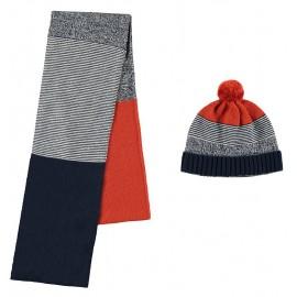 Mayoral komplet 10821-25 czapka i szalik miedziany