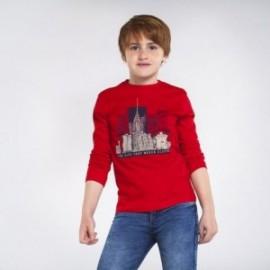 Koszulka z długim rękawem chłopięca Mayoral 7049-80 Czerwony