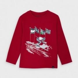 Koszulka z nadrukiem chłopięca Mayoral 4037-22 Czerwony