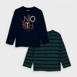 Komplet 2 koszulek dla chłopców Mayoral 4043-52 Zielony
