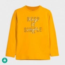 Koszulka z długim rękawem chłopięca Mayoral 842-64 Żółty